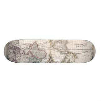 1685 Bormeester Map of the World Skateboard Deck