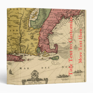 1685 Map - New Belgium, The New World, New England 3 Ring Binders