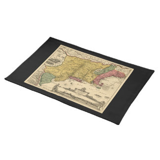 1685 Map - New Belgium, The New World, New England Place Mat