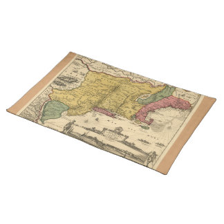 1685 Map - New Belgium, The New World, New England Placemat