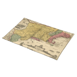 1685 Map - New Belgium, The New World, New England Placemats