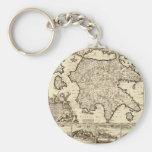 1688 Greece / Greek Peloponnesian Map Basic Round Button Keychain