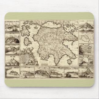 1688 Greece / Greek Peloponnesian Map Mouse Pad