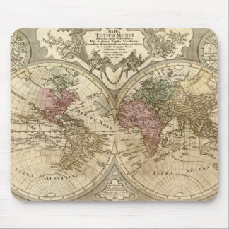1690 Guillaume Old World Map Mouse Pad