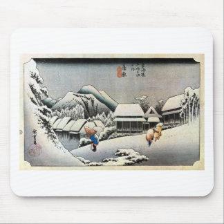 16. 蒲原宿, 広重 Kanbara-juku, Hiroshige, Ukiyo-e Mouse Pad