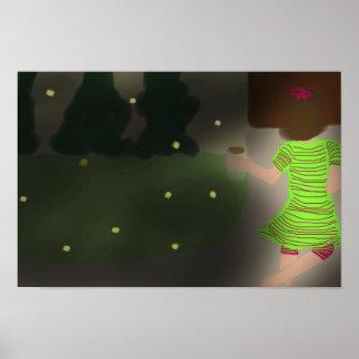 """16.50"""" x 11.00"""" Catching Fireflies Poster"""