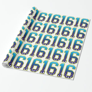 16 Age Star Wrapping Paper