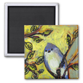 16 Birds, No 12 - Square Magnet