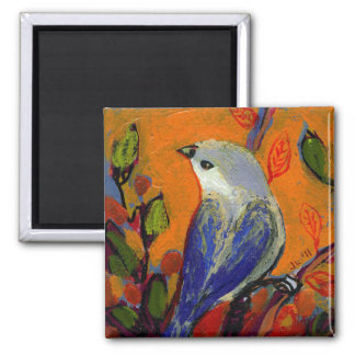 16 Birds, No 13 - Square Magnet