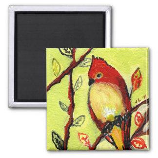 16 Birds, No 3 - Square Magnet