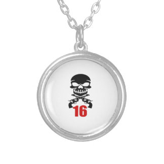 16 Birthday Designs Silver Plated Necklace