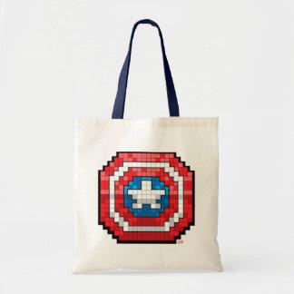 16-Bit Pixelated Captain America Shield