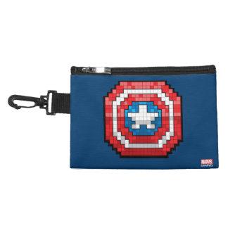 16-Bit Pixelated Captain America Shield Accessories Bags