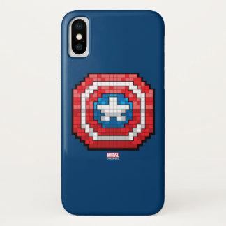 16-Bit Pixelated Captain America Shield iPhone X Case