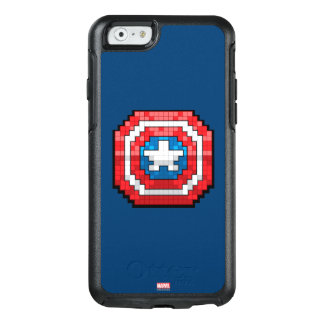 16-Bit Pixelated Captain America Shield OtterBox iPhone 6/6s Case