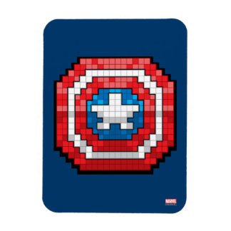 16-Bit Pixelated Captain America Shield Rectangular Photo Magnet