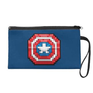 16-Bit Pixelated Captain America Shield Wristlet