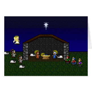 16-Bit RPG Nativity Scene Card