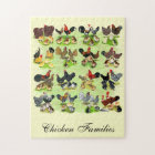 16 Chicken Families Jigsaw Puzzle