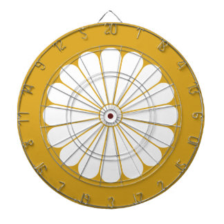 16 chrysanthemum dartboard with darts