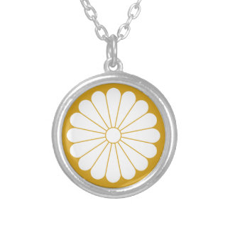 16 chrysanthemum silver plated necklace