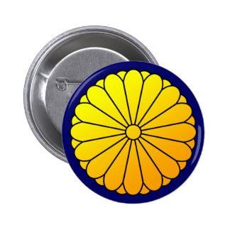 16 eightfold chrysanthemum 2 inch round button