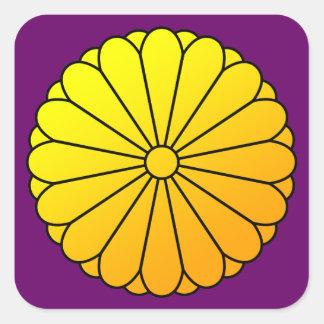 16 eightfold chrysanthemum square sticker