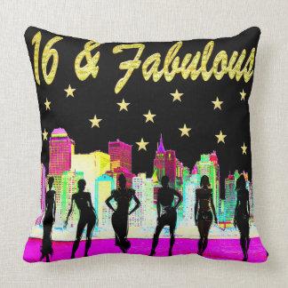 16 & FABULOUS NYC DIVA DESIGN THROW PILLOW