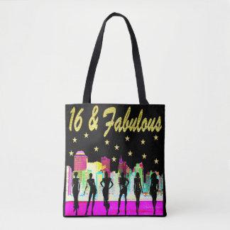 16 & FABULOUS NYC DIVA DESIGN TOTE BAG