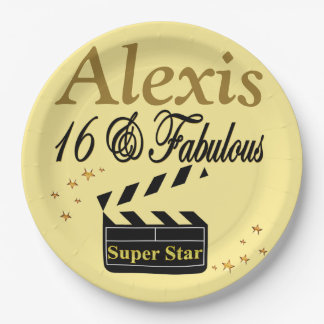 16 & FABULOUS SUPER STAR PERSONALIZED PLATES