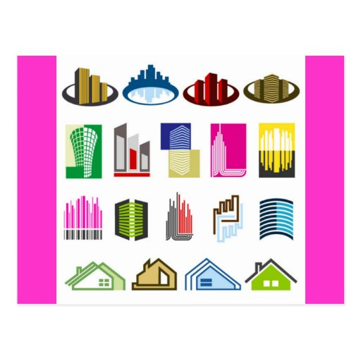 16-Free-Real-Estate-Vector-Logo-types Post Cards