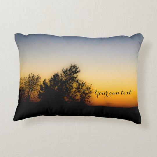 "16"" x 12"" Sunrise & Sunset Custom Text Pillow"