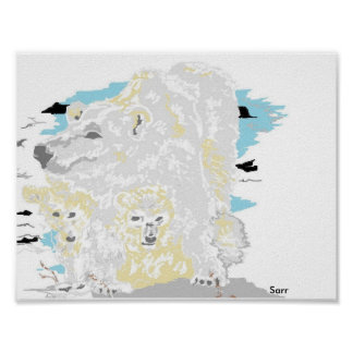 "16"" x 12"", Value Poster Paper (Matte) Polar Bear"