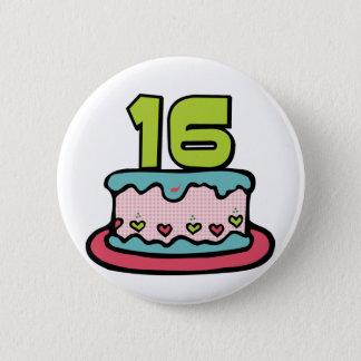 16 Year Old Birthday Cake 2 Inch Round Button