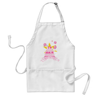 16 Year Old Birthday Cake Standard Apron