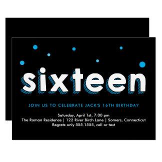 16ème Invitation d'anniversaire, lettres