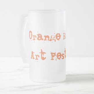 16oz Frosted Glass Mug