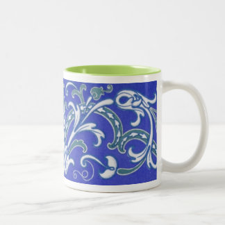 16th and 17th Century Vintage Pattern Two-Tone Coffee Mug