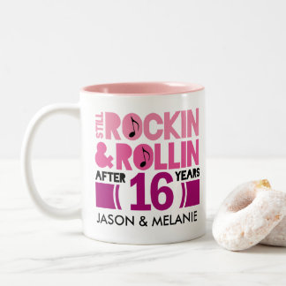 16th Anniversary Husband Wife Gift Mugs