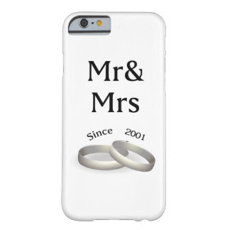 16th anniversary matching Mr. And Mrs. Since 2001 Barely There iPhone 6 Case
