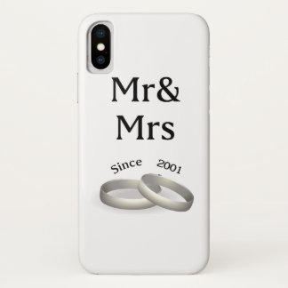 16th anniversary matching Mr. And Mrs. Since 2001 Case-Mate iPhone Case