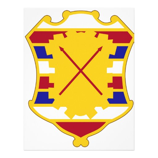 16th Antiaircraft Artillery Gun Battalion Custom Letterhead