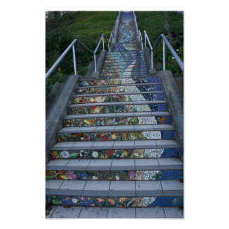 16th Avenue Tiled Steps #2 Poster