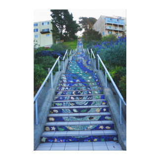 16th Avenue Tiled Steps #5 Canvas