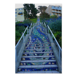 16th Avenue Tiled Steps #5 Poster