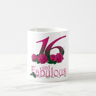 16th birthday 16 pink rose flower mug