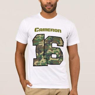 16th Birthday Camo One Year Custom Name V012E T-Shirt