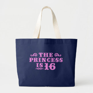 16th Birthday Large Tote Bag