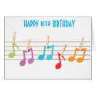 **16th BIRTHDAY** MUSICAL NOTES BIRTHDAY WISHES