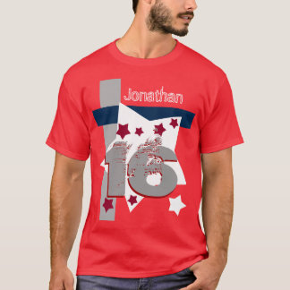 16th BIRTHDAY RED WHITE BLUE Custom Year V11BF T-Shirt